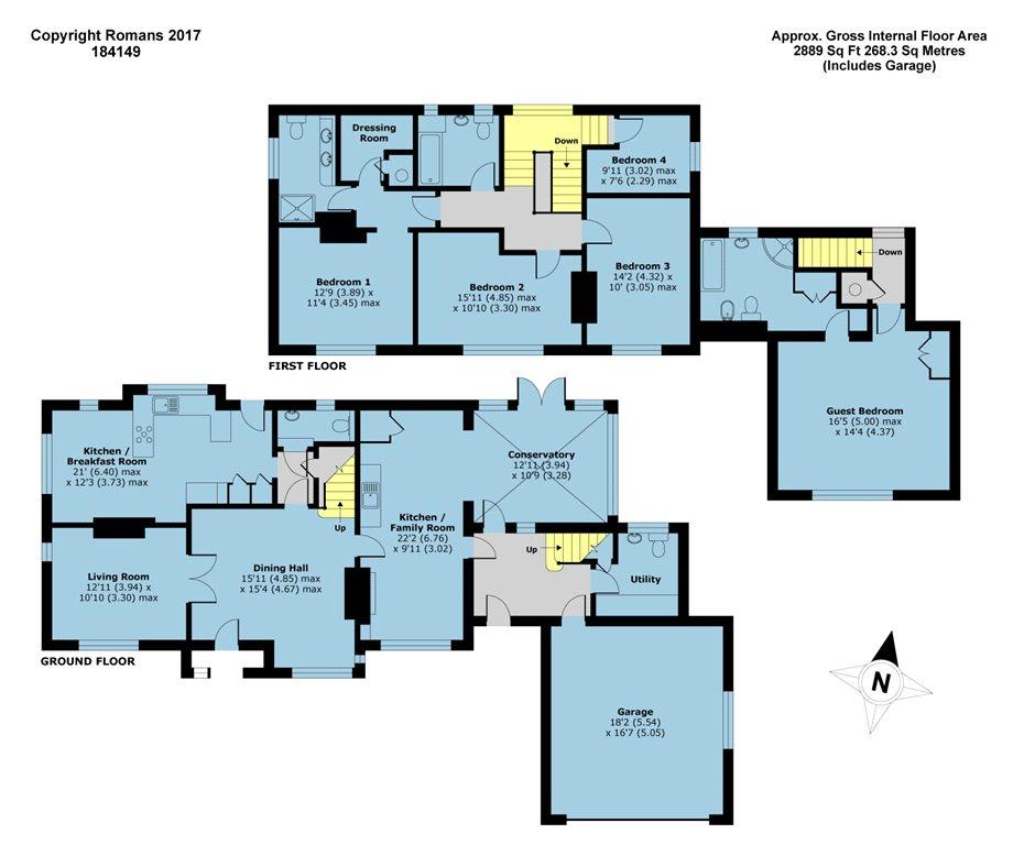 Jesse Close Yateley Hampshire Gu46 5 Bedroom Detached