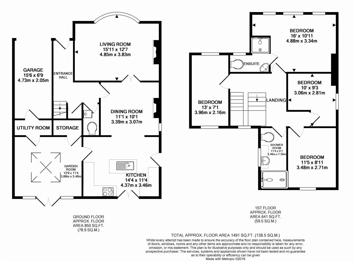 Dunston lane newbold chesterfield s41 4 bedroom for 16 brookers lane floor plans
