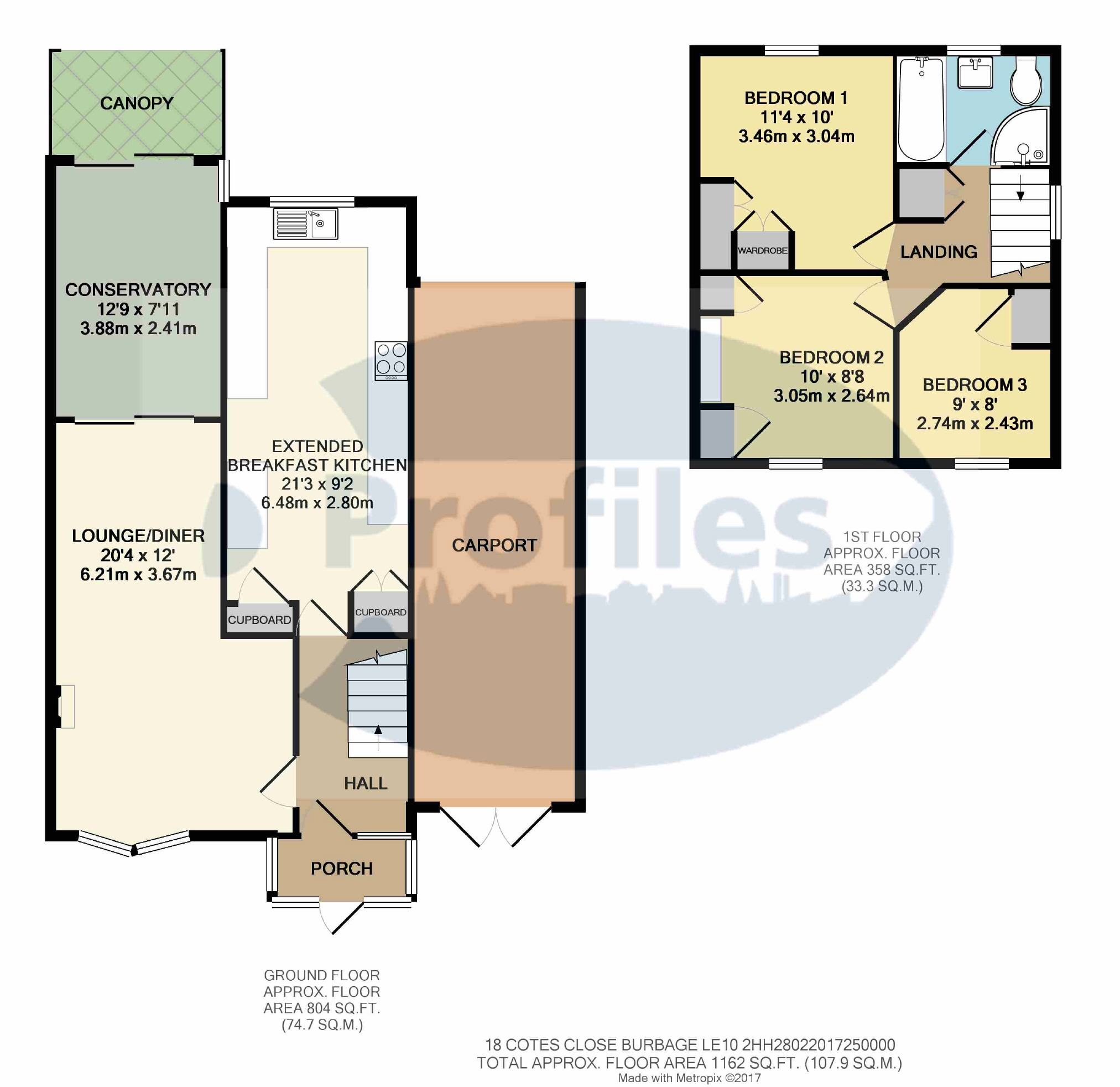 3 bed semi detached house for sale in colts close burbage