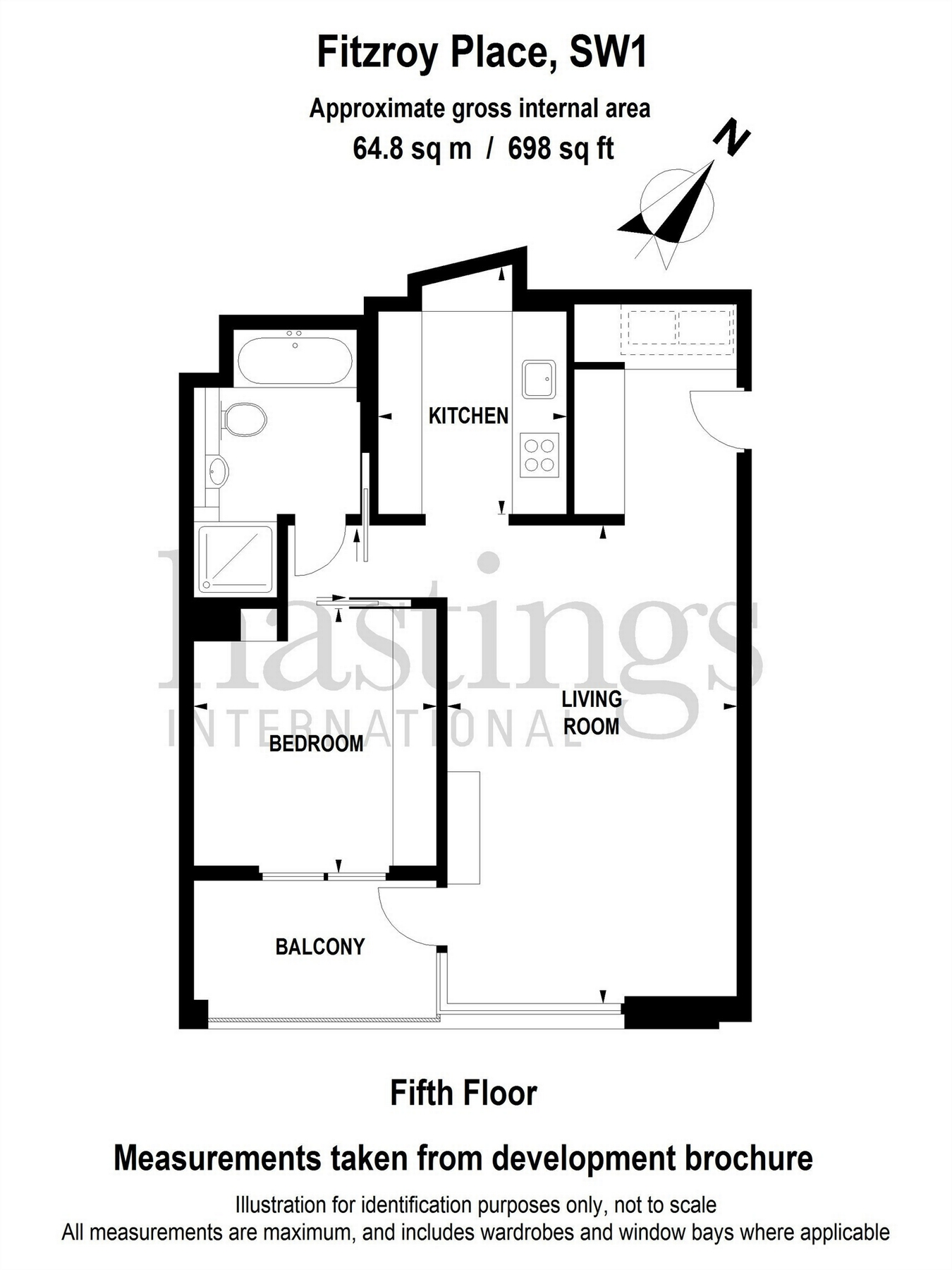 1 Bedroom Flat For Sale In 6 Pearson Square Fitzroy Place