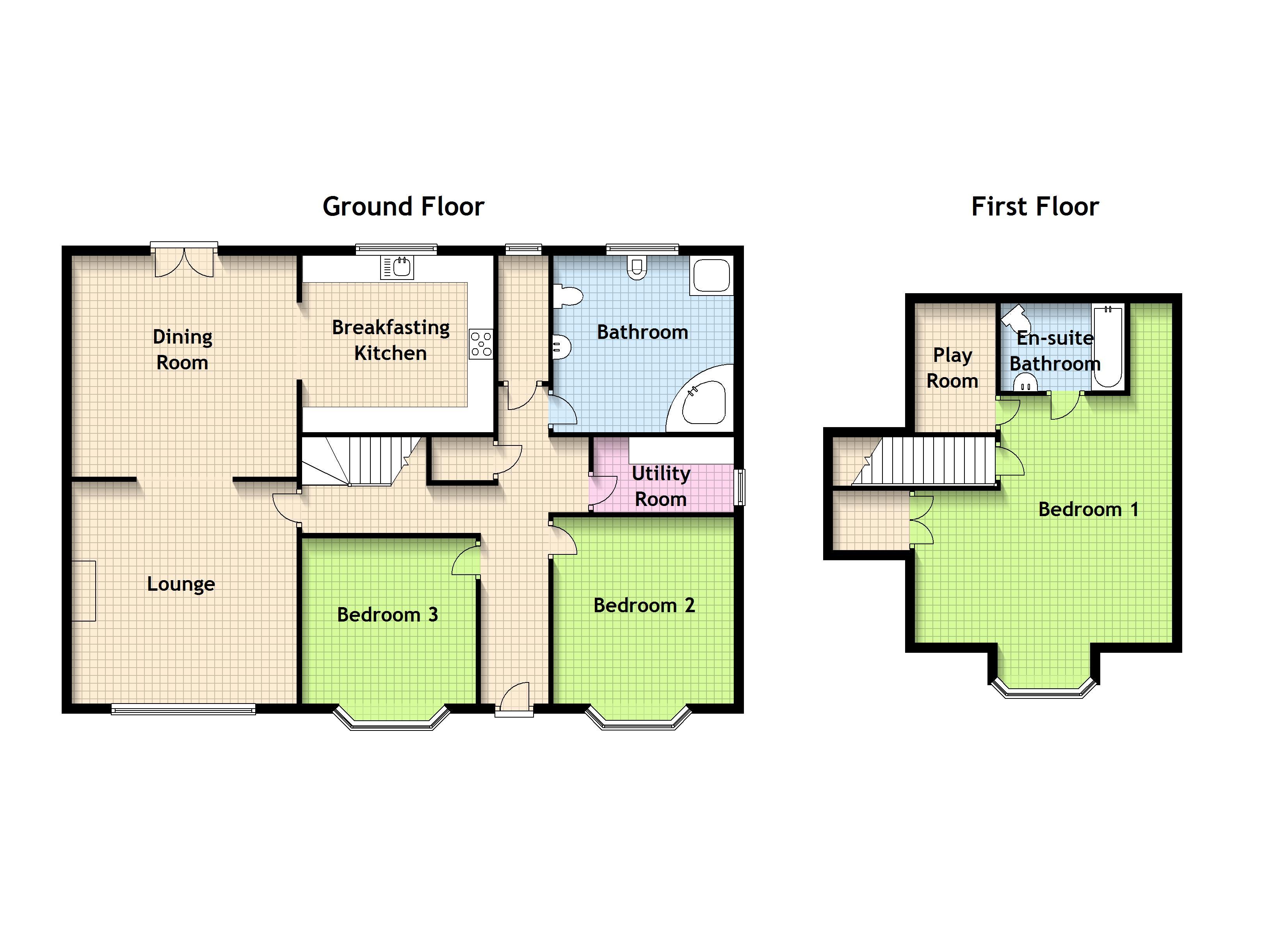 3 Bedroom Bungalow House Plans Uk