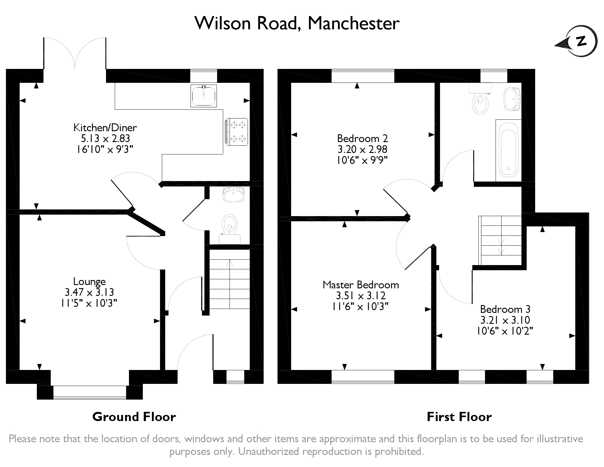 3 Bed Terraced House For Sale In Wilson Road Blackley Manchester Average Cost Of Rewiring A Floorplan 1