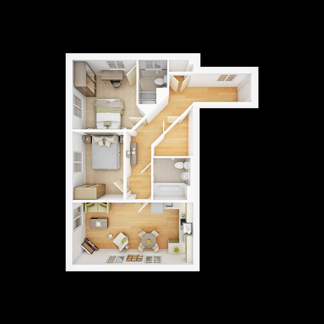 2 bed flat for sale in Hammingden Court Forgewood Crawley RH10 – Forge Wood Site Plan