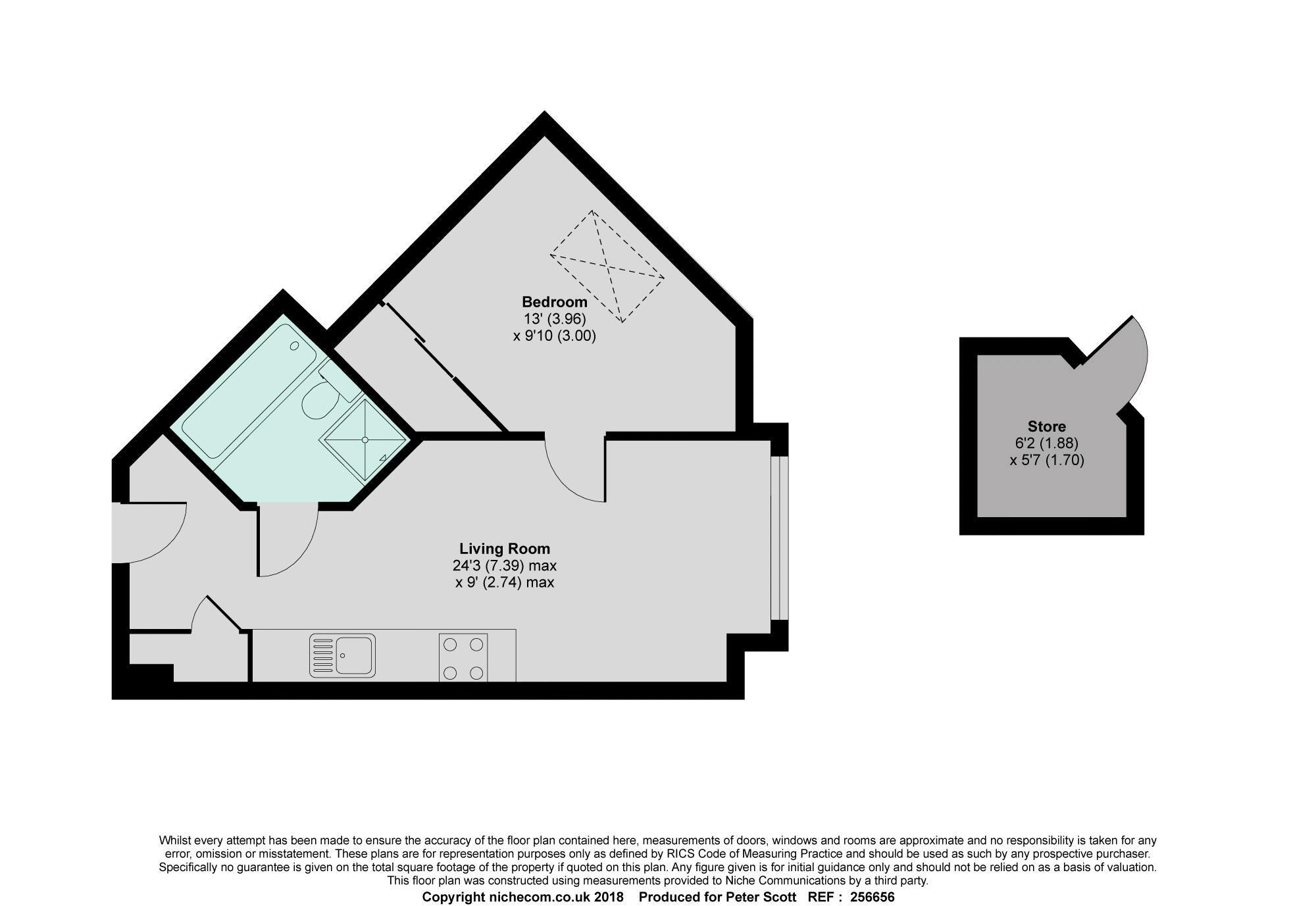 1 Bed Flat For Sale In Verona House Wellington Street