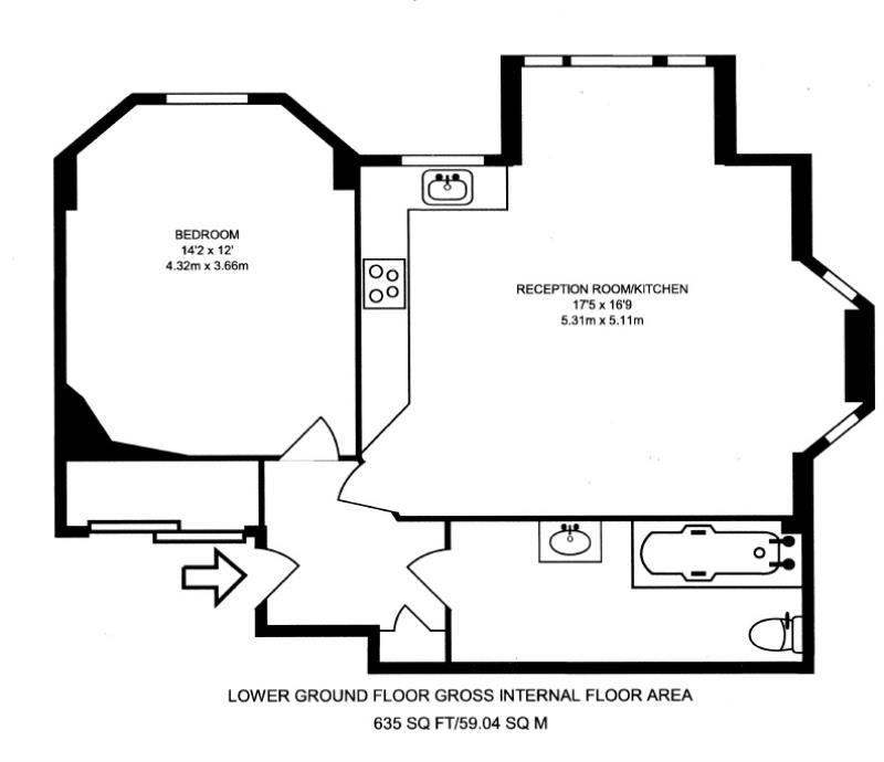 Ferncroft Avenue, London NW3, 1 Bedroom Flat For Sale