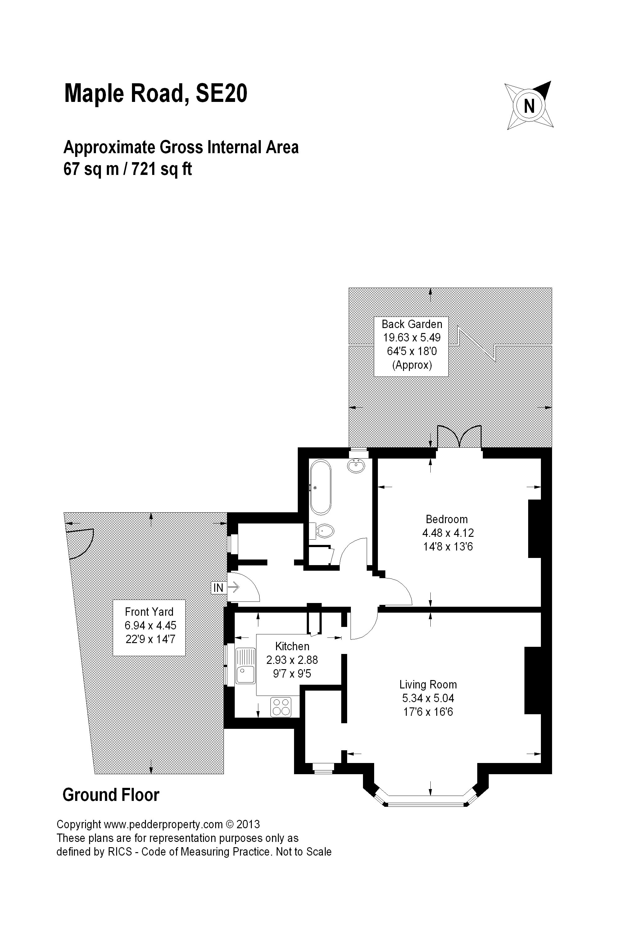 1 Bedrooms Flat to rent in Maple Road, London SE20