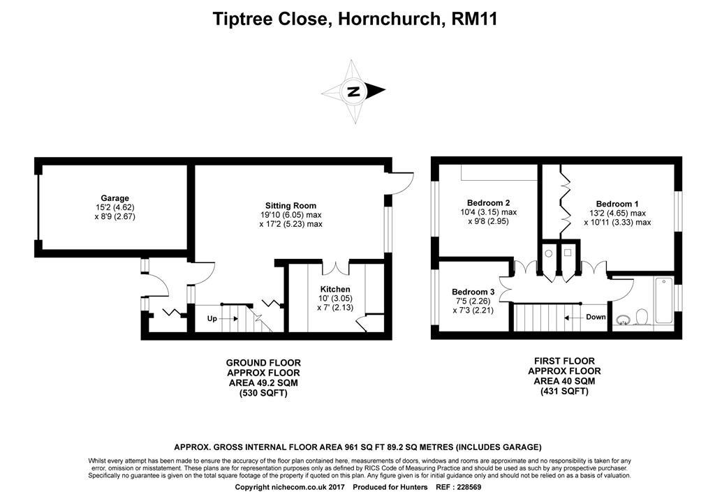 Tiptree Close Hornchurch Rm113bd Rm11 3 Bedroom End