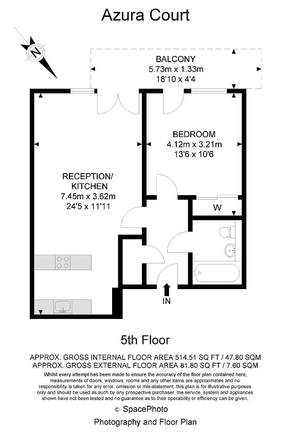 1 Bedrooms Flat to rent in Azura Court, 48 Warton Road, London E15