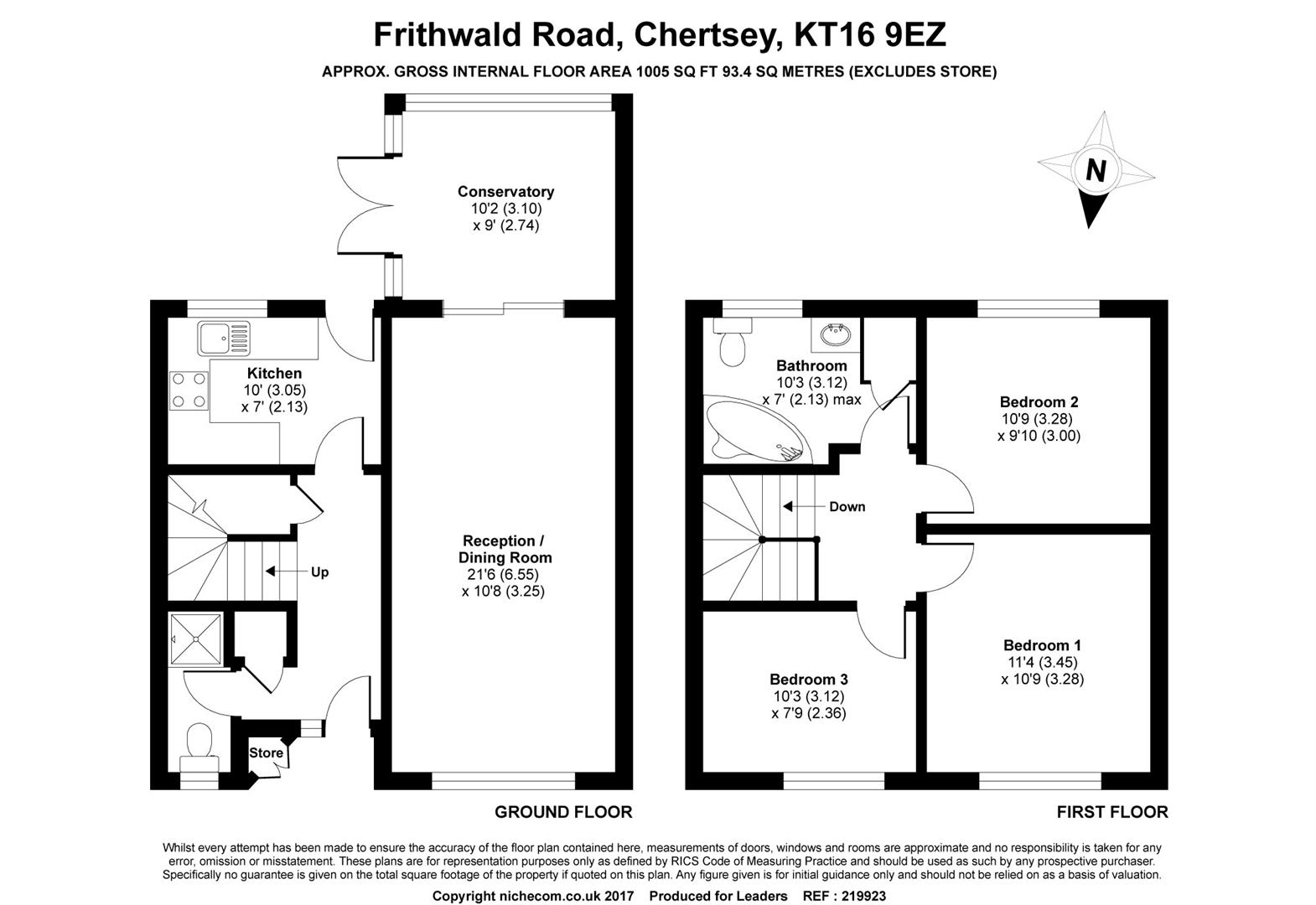 Frithwald Road Chertsey Kt16 3 Bedroom Property For Sale 45108681 Primelocation
