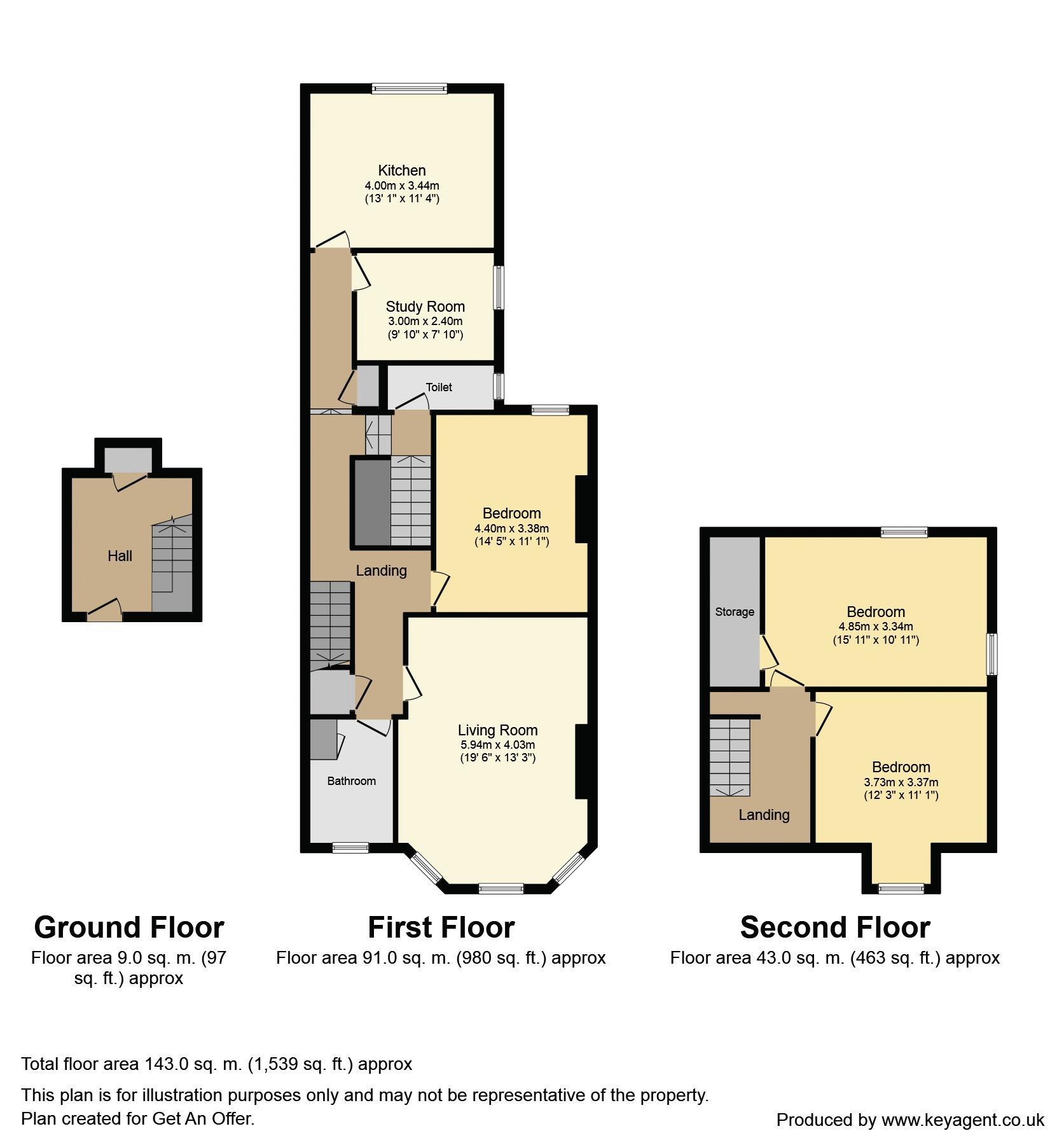 4 bedroom maisonette for sale 45838448 primelocation for Four bedroom maisonette plans