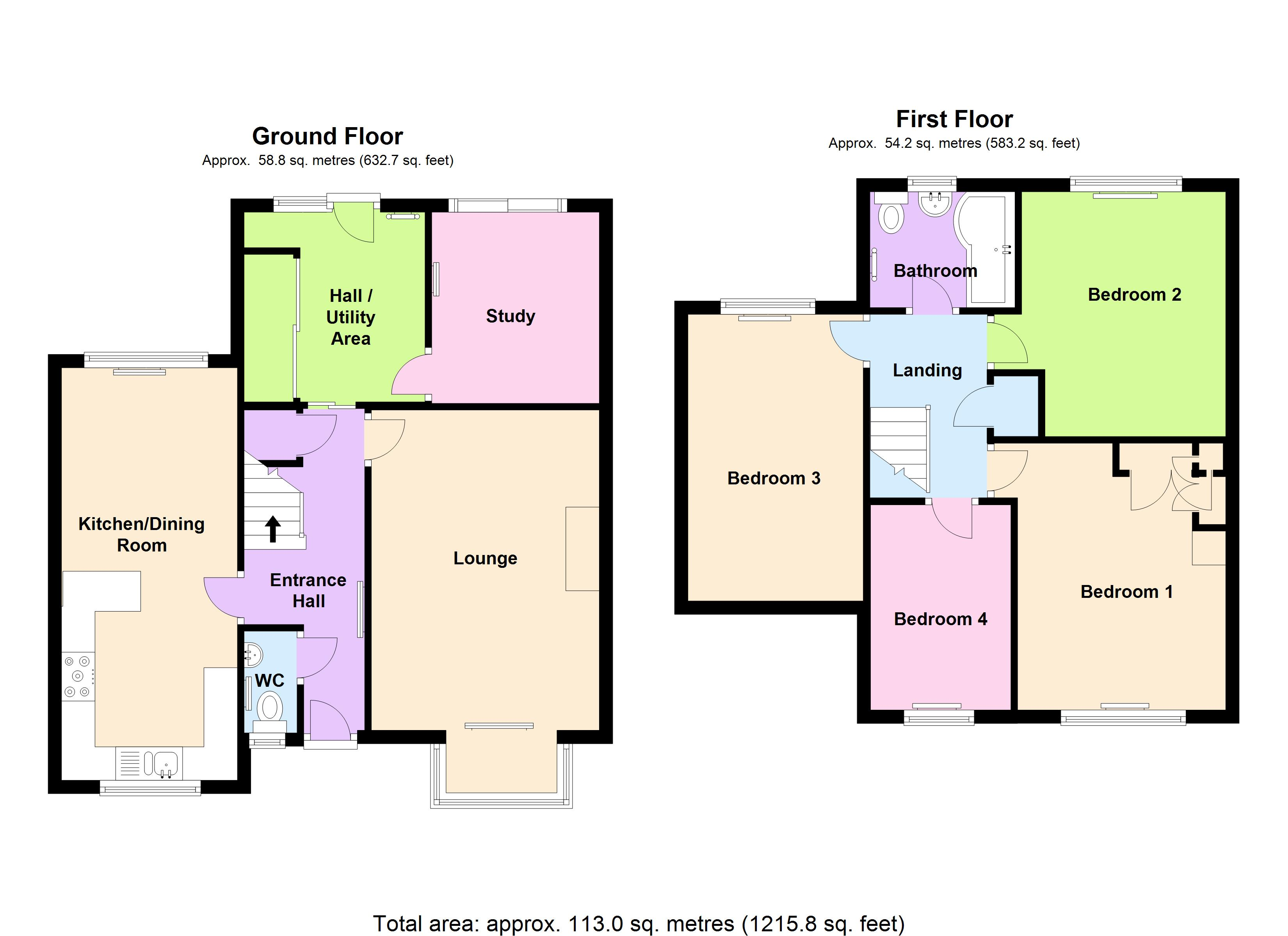 Eight bedroom main manor and a separate four bedroom gatehouse - Floor Plan View Original