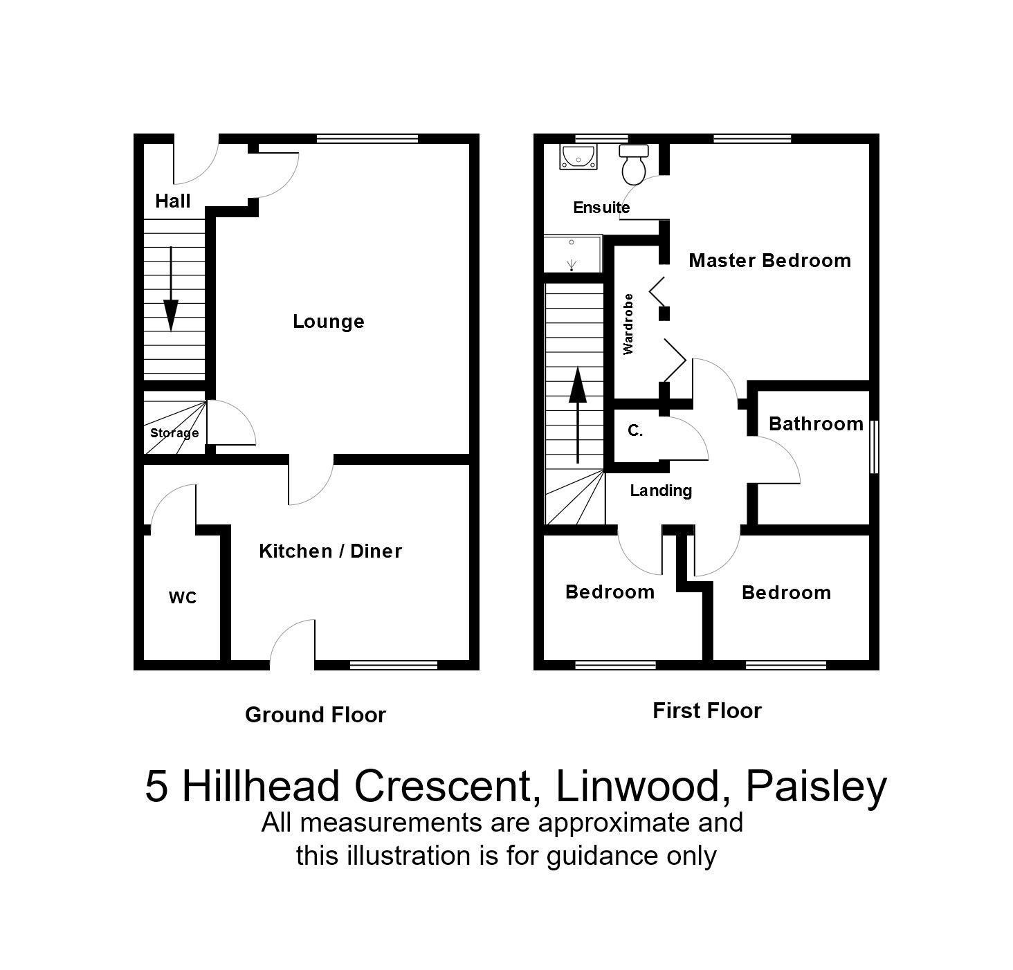 3 Bedroom House For Sale Paisley: Hillhead Crescent, Linwood, Paisley PA3, 3 Bedroom Semi