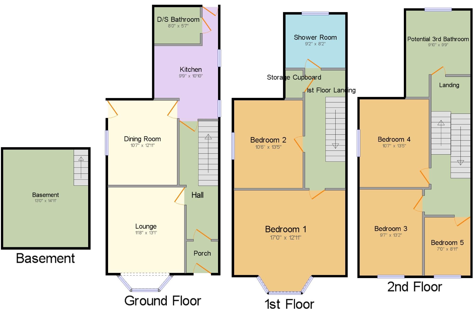 Marine terrace penmaenmawr conwy ll34 5 bedroom end for 50 marine terrace