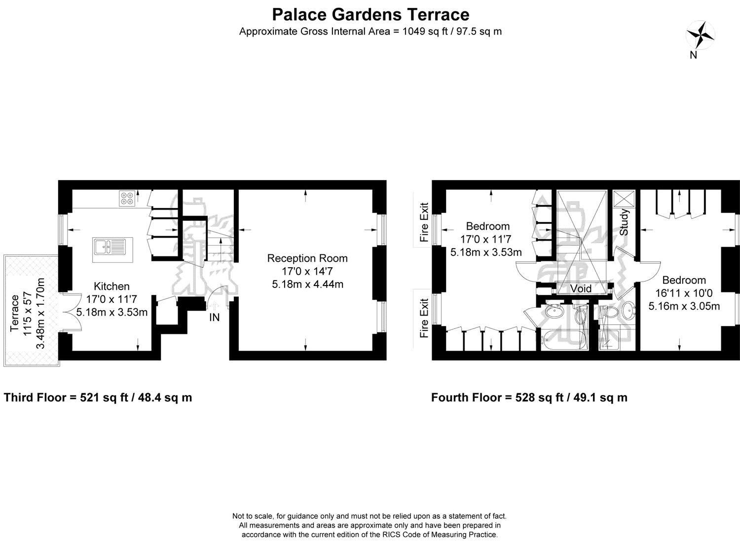 2 Bedroom Maisonette To Rent In Palace Gardens Terrace