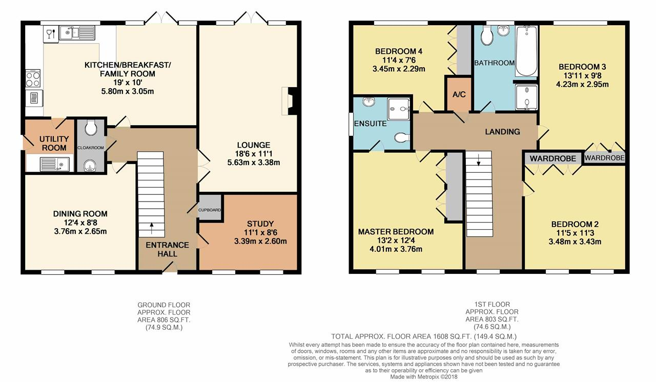 4 bed detached house for sale in cotswolds way calvert for Buckingham choice floor plans