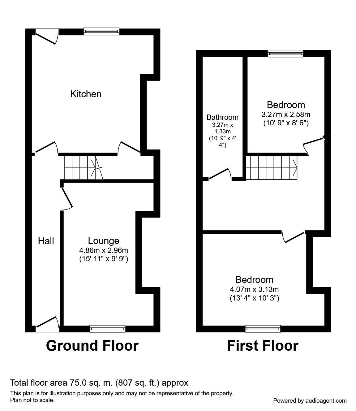 2 Bedrooms Terraced house to rent in Wood Street, Darwen BB3
