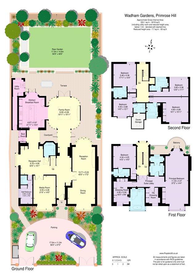 Wadham Gardens Primrose Hill London Nw3 6 Bedroom