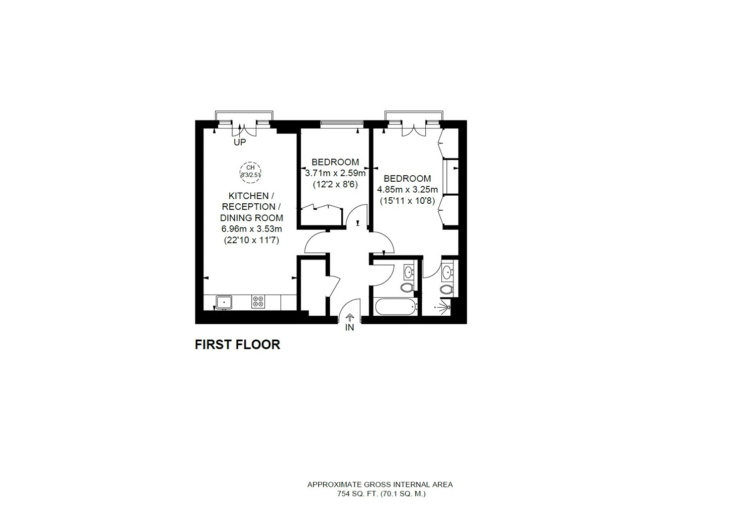 2 Bedrooms Flat for sale in Pratt Mews, London NW1