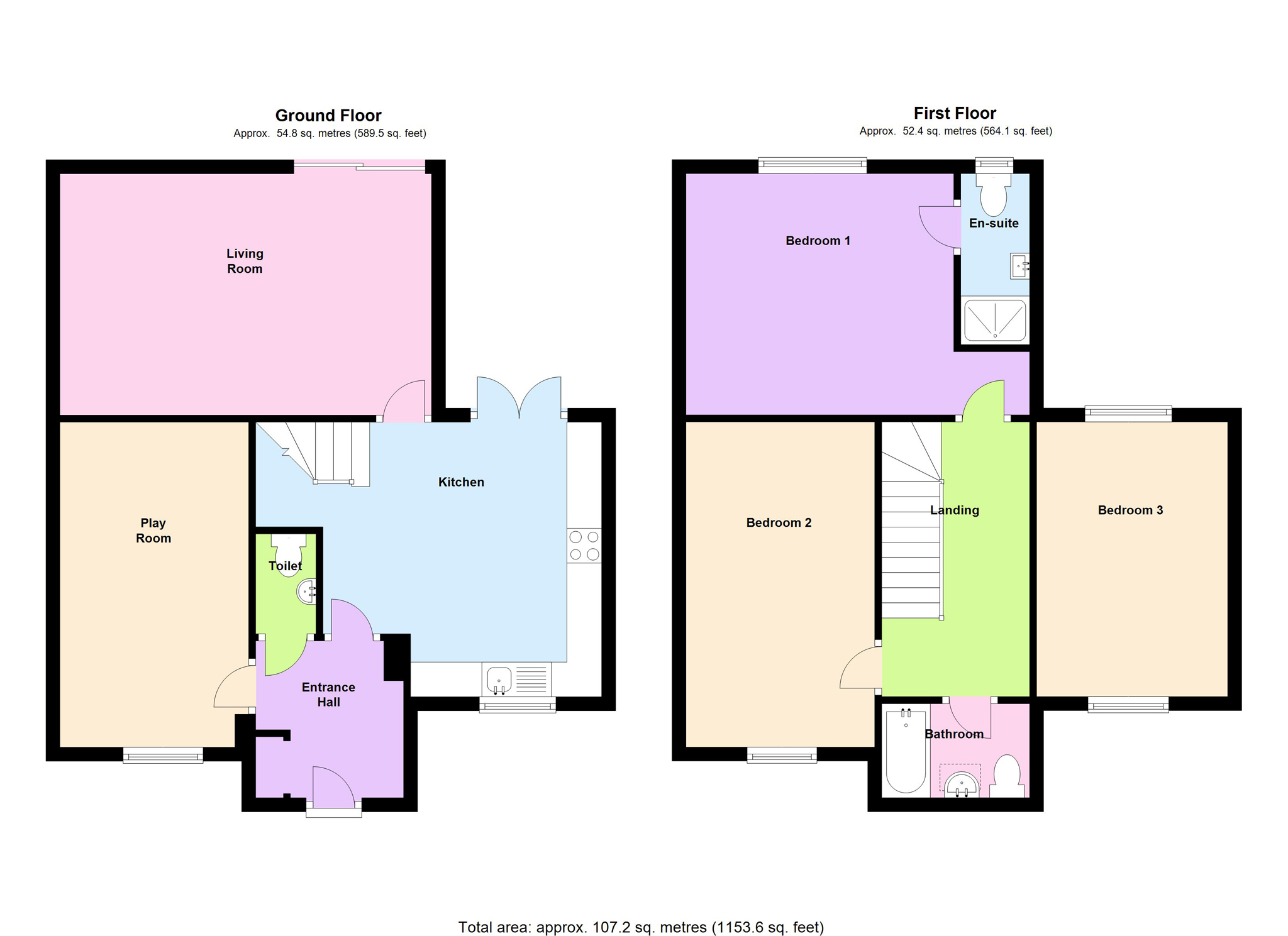 4 bed terraced house for sale in rivermead road oxford for Oxford floor plan