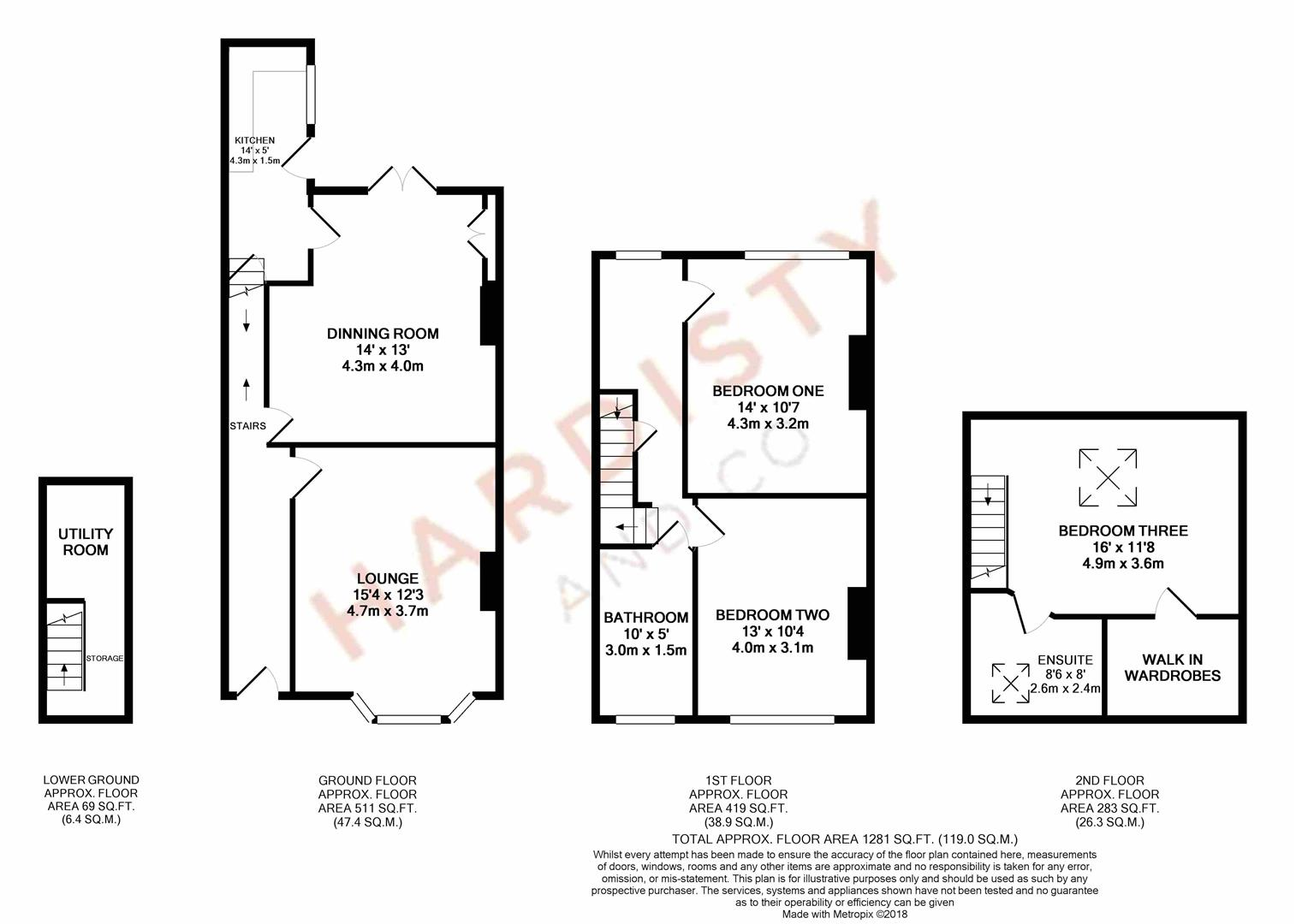 3 Bedrooms Terraced house to rent in Woodhall Road, Calverley, Pudsey LS28