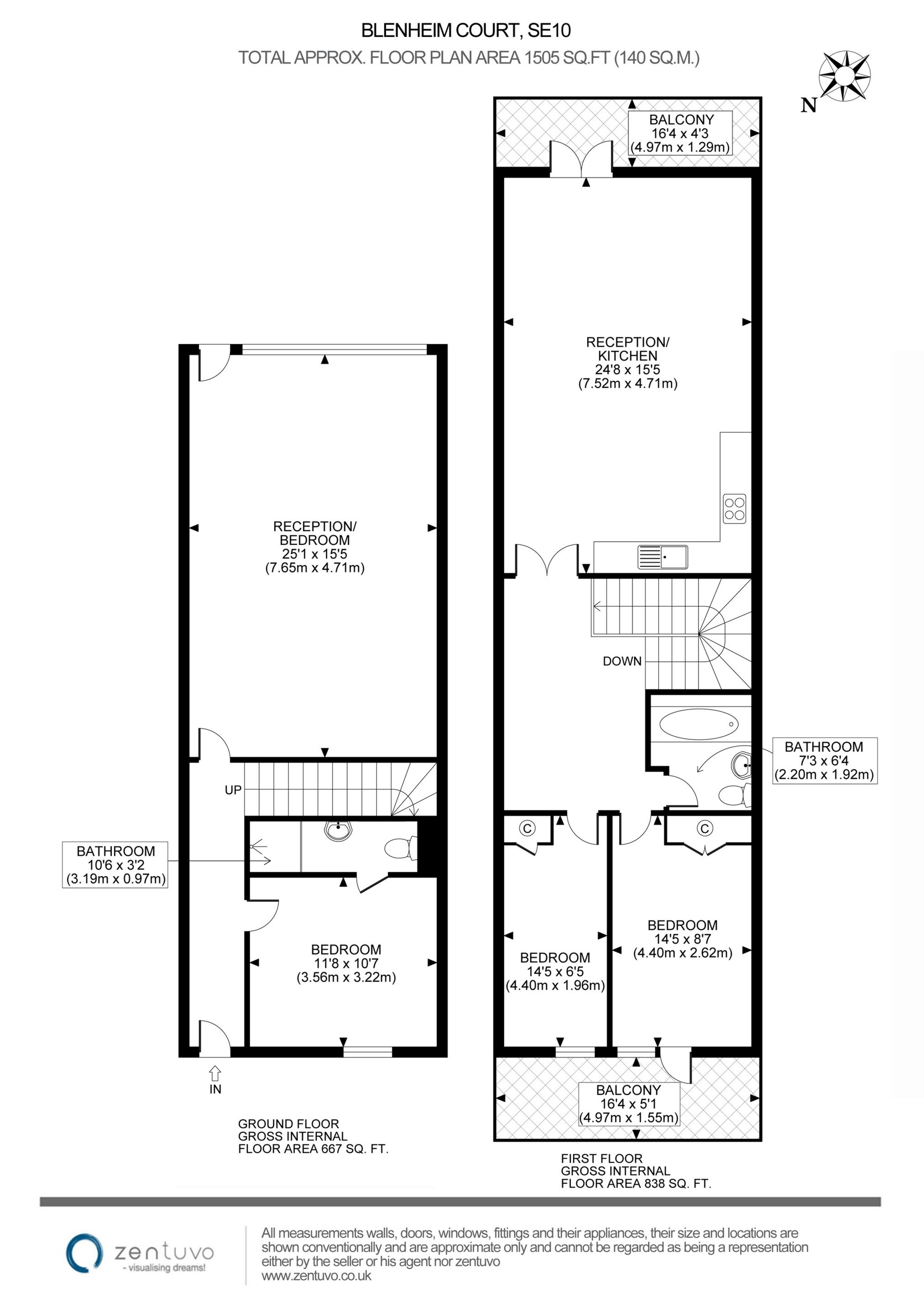Blenheim court woolwich road greenwich se10 4 bedroom for Up down duplex floor plans