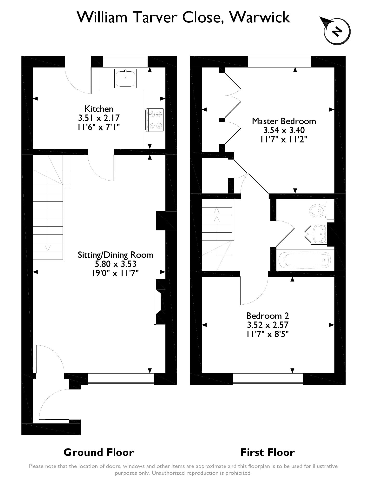 Warwick Castle Floor Plan William Tarver Close Warwick Cv34 2 Bedroom Terraced