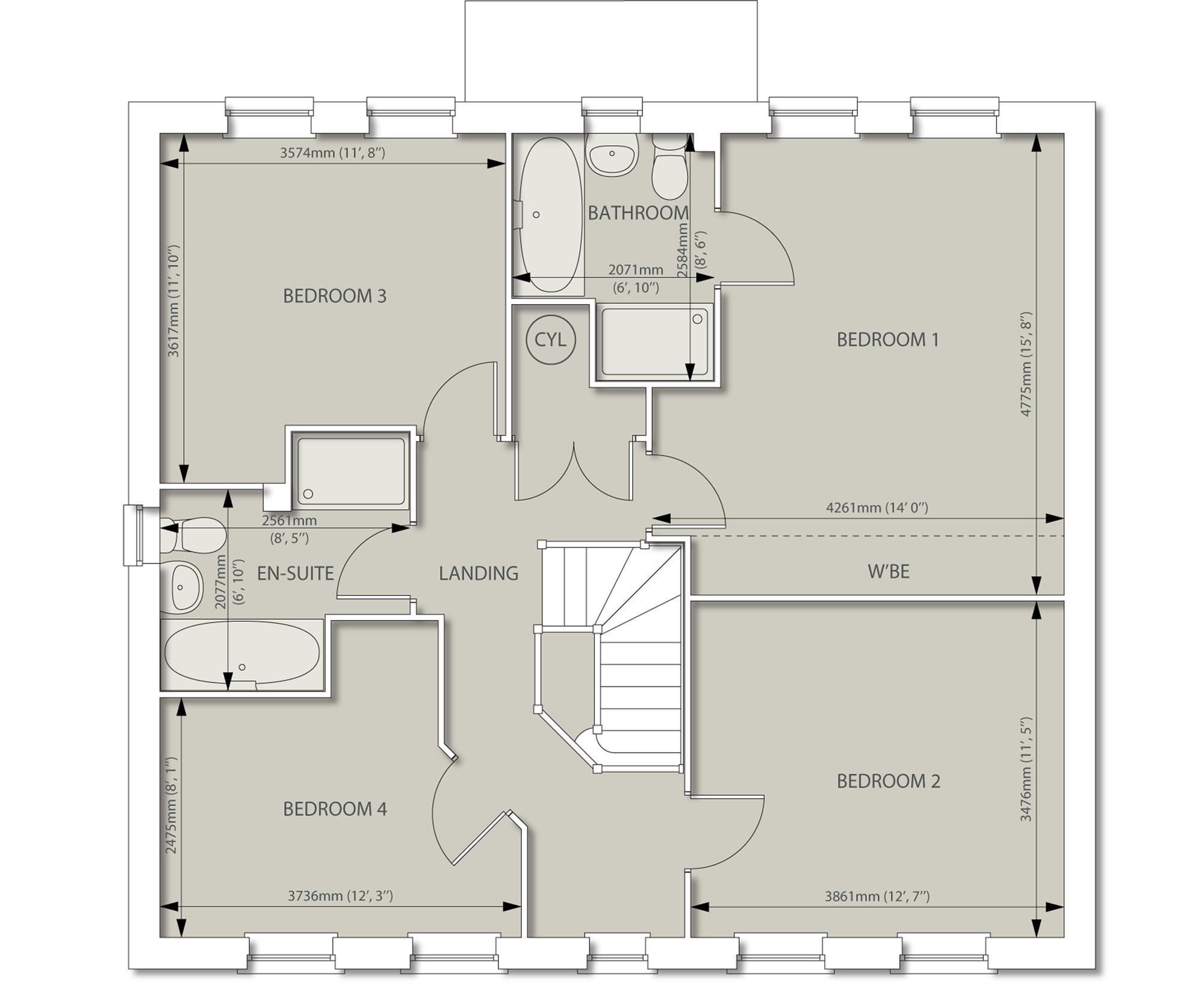 David wilson homes chelworth floor plan for Floor plans for 160 000