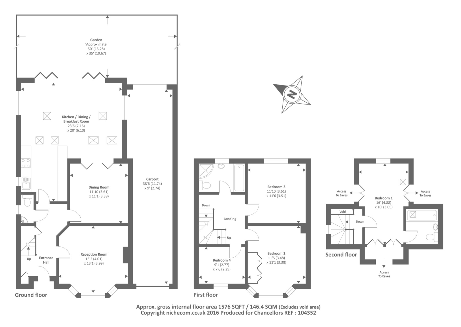 Headington oxford ox3 4 bedroom detached house for sale for Oxford floor plan