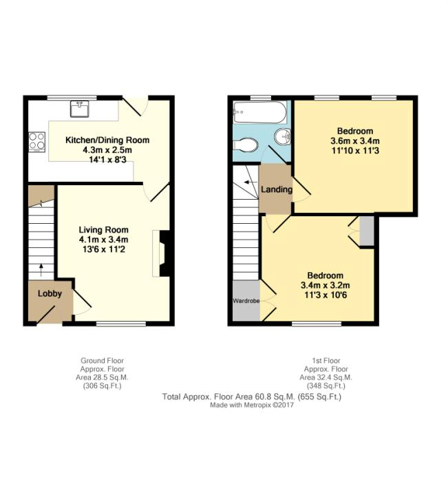 Cradock road sheffield south yorkshire s2 2 bedroom for Sheffield floor plan