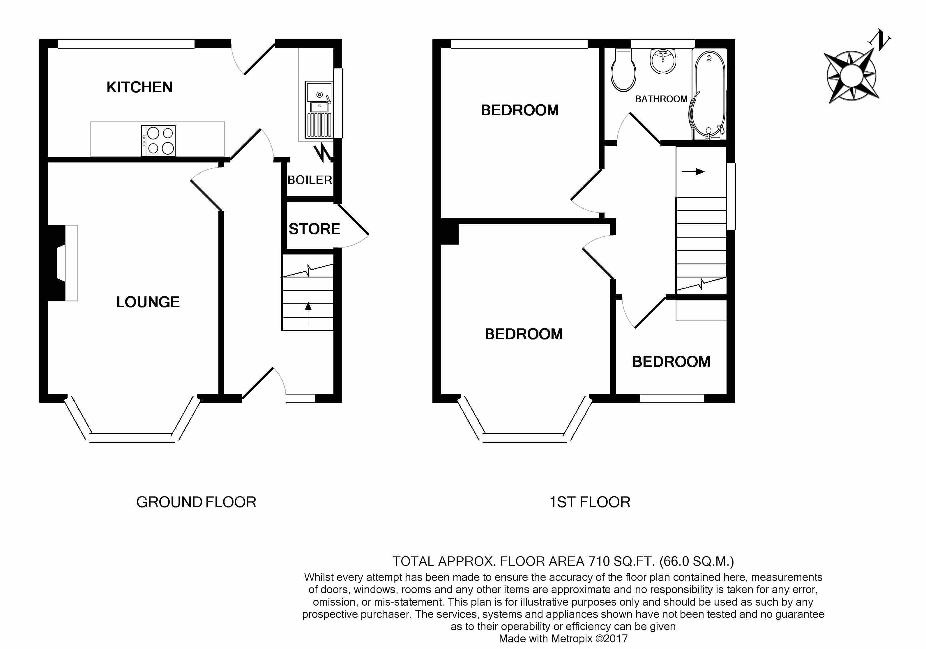 Beacon road wincobank sheffield s9 3 bedroom semi for Sheffield floor plan