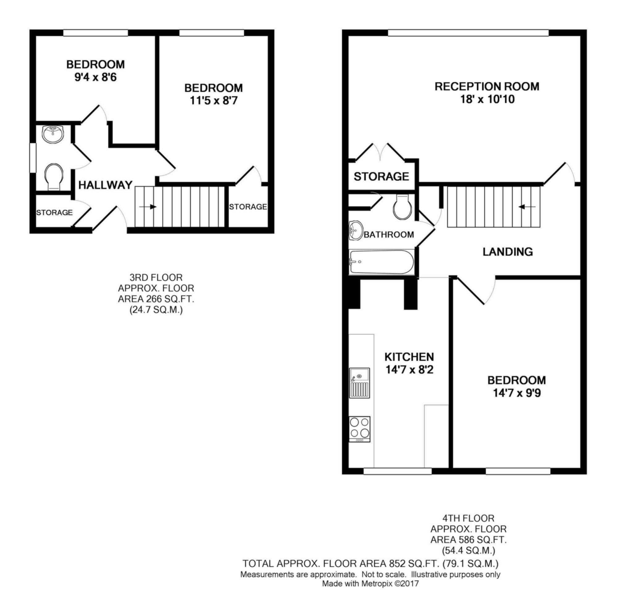 3 bedroom duplex for sale 45109278 primelocation for Up down duplex floor plans