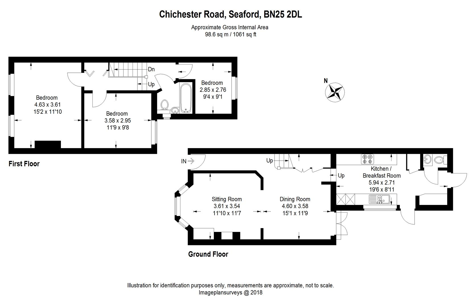 3 Bed Terraced House For Sale In Chichester Road Seaford Bn25 Zoopla Average Cost Of Rewiring A Floorplan 1