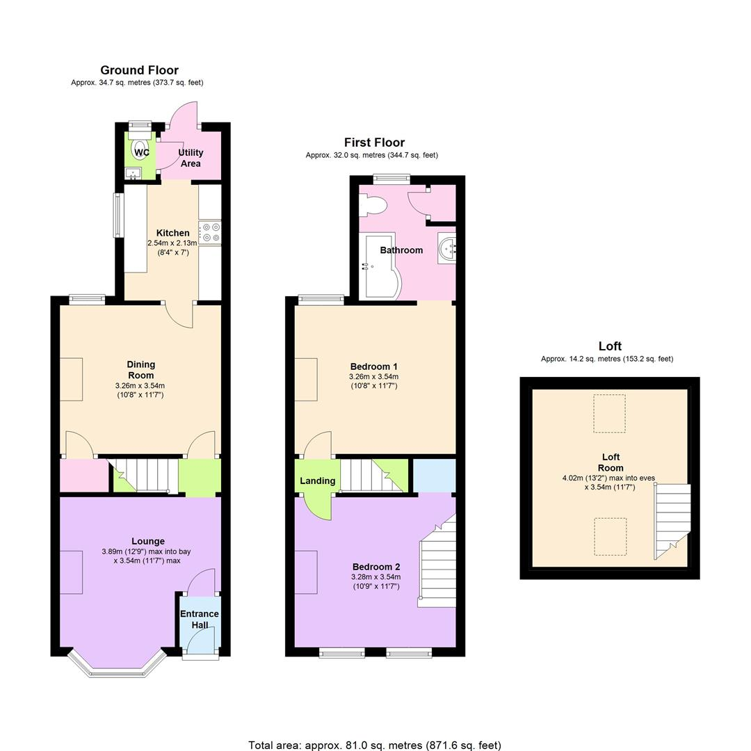 Grovelands road reading rg30 2 bedroom terraced house for Reading a floor plan