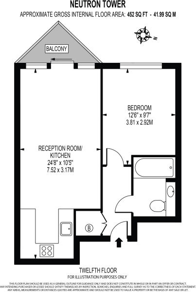 Blackwall Way London E14 1 Bedroom Flat For Sale