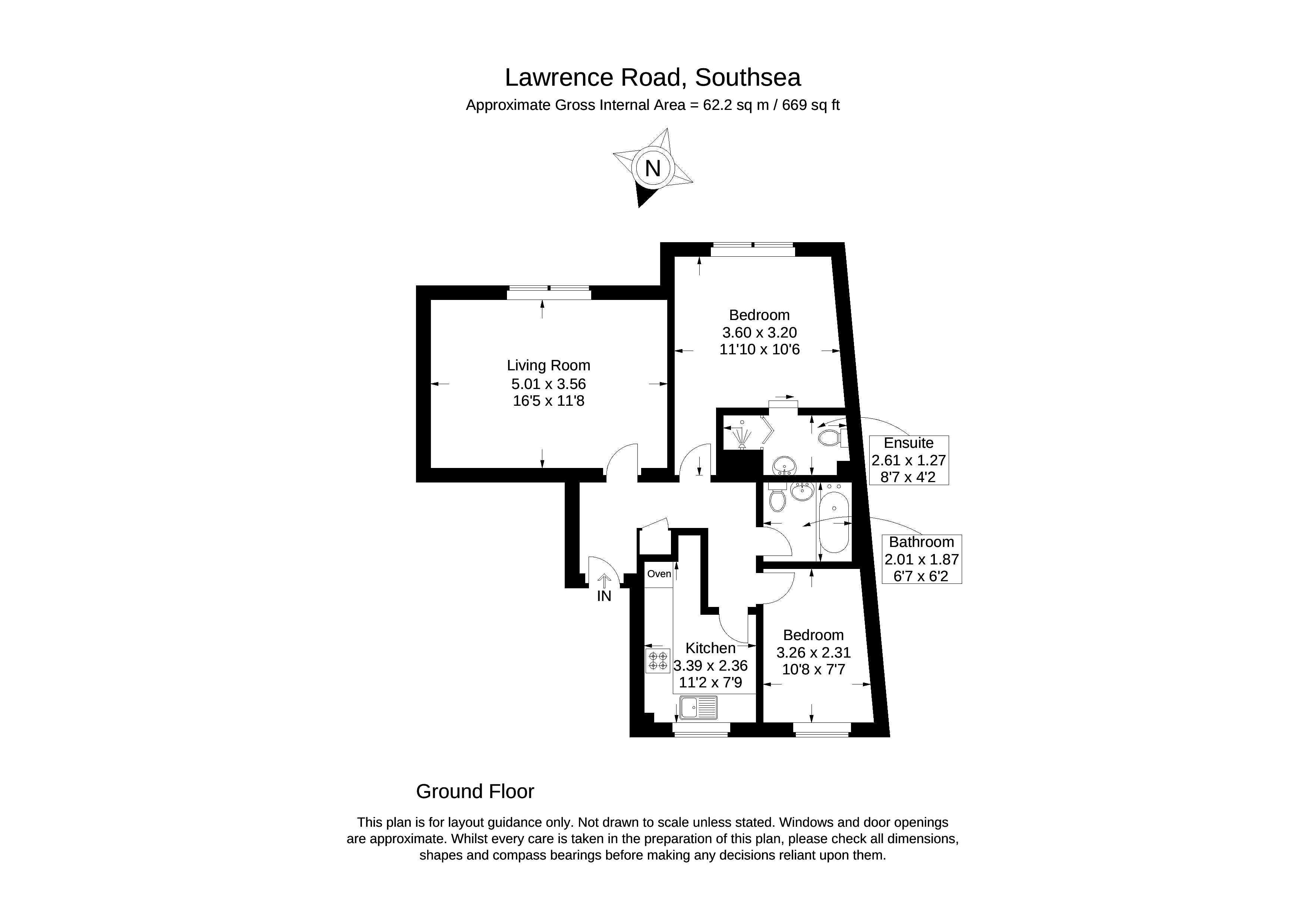 Lawrence Road Southsea Po5 2 Bedroom Flat For Sale