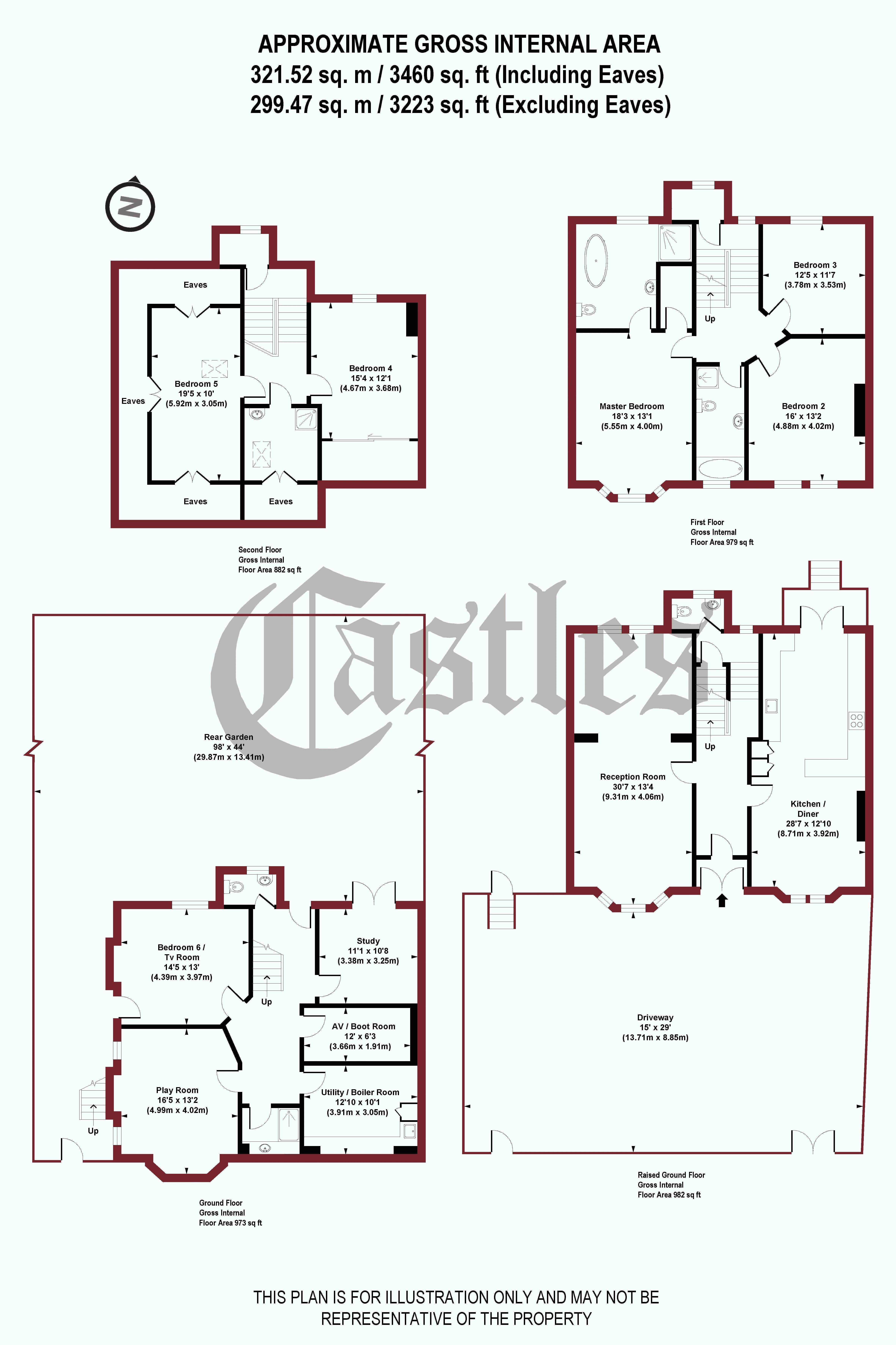 6 Bed Semi Detached House For Sale In Christchurch Road London N8 Natwest Wiring Instructions Floorplan 1