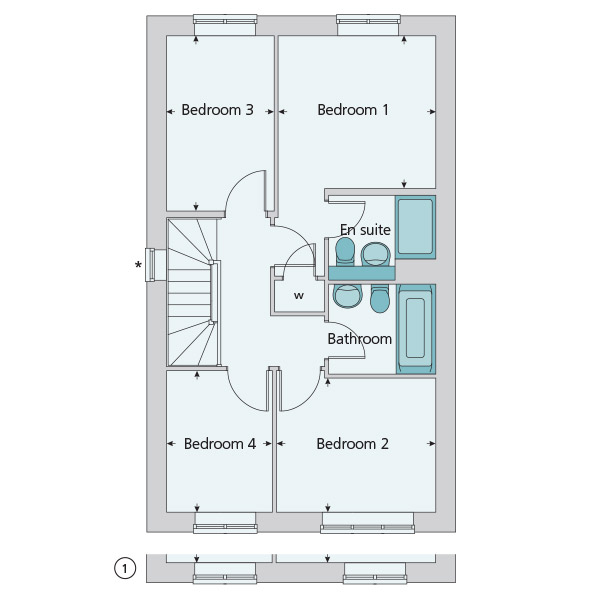 299 995 4 bedroom semi detached house for sale in for Trademark quality homes floor plans
