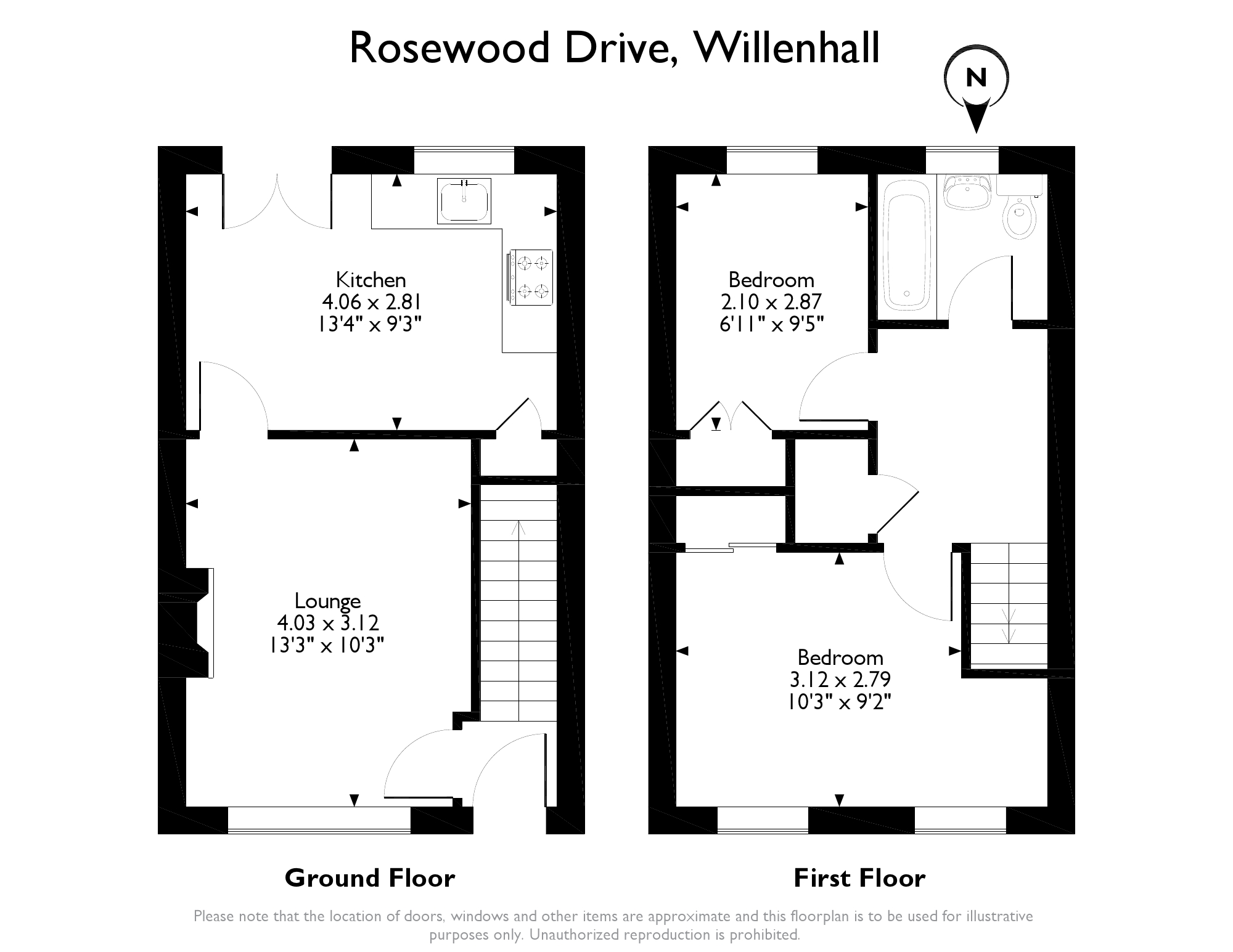 Rosewood Drive Coppice Farm Willenhall WV12 2 bedroom terraced