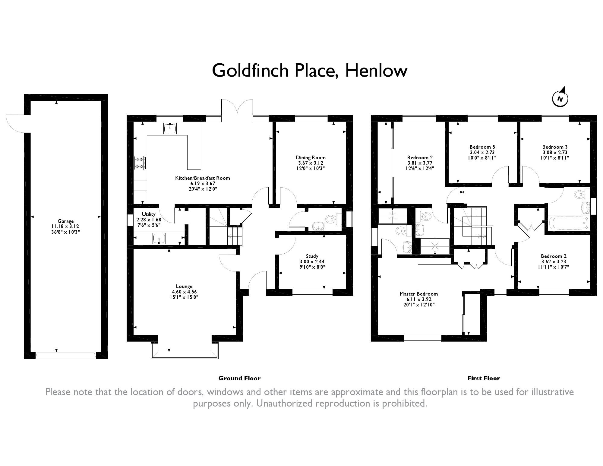 5 Bedrooms Detached house for sale in Goldfinch Place, Henlow SG16