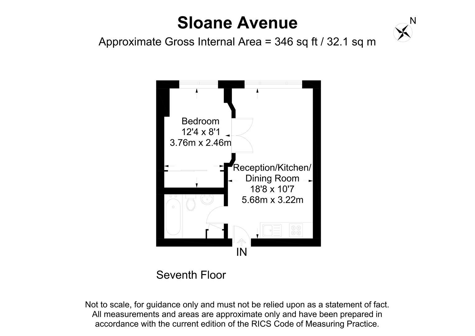 Nell Gwynn House, Sloane Avenue, Chelsea SW3, 1 bedroom flat