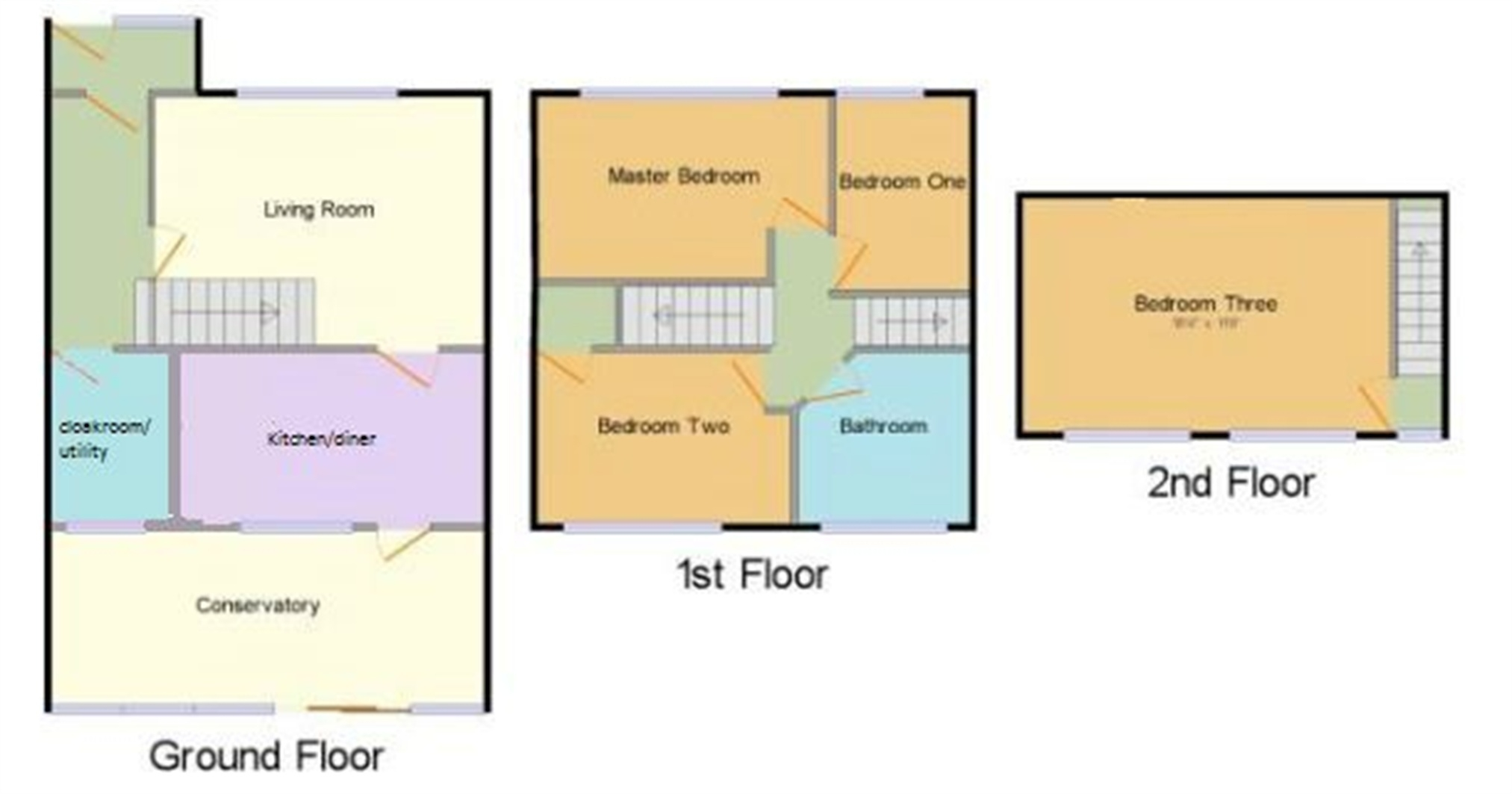 4 Bed Terraced House For Sale In Siddons Road Stevenage Average Cost Of Rewiring A Floorplan 1