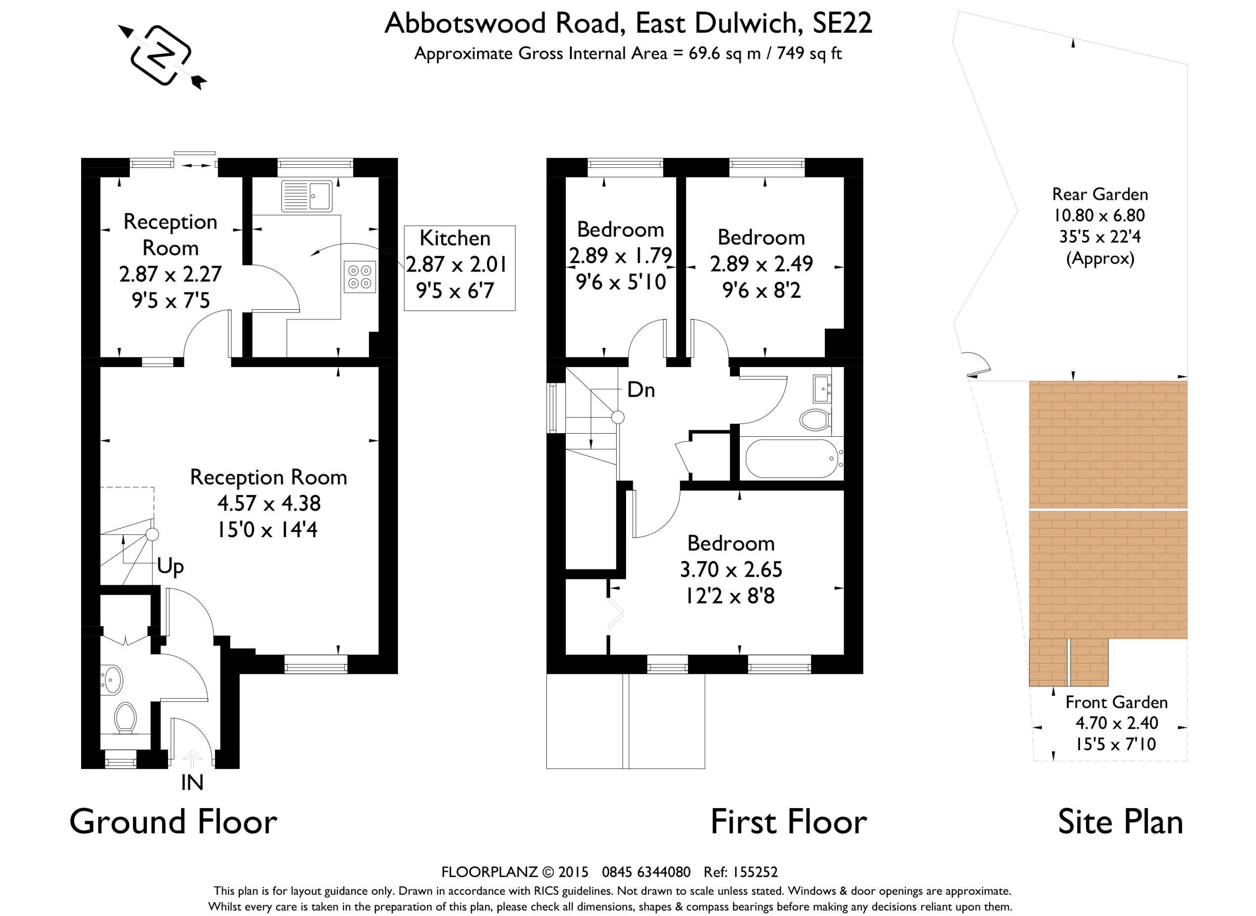 Abbotswood road east dulwich london se22 3 bedroom end for 1 9 terrace road dulwich hill