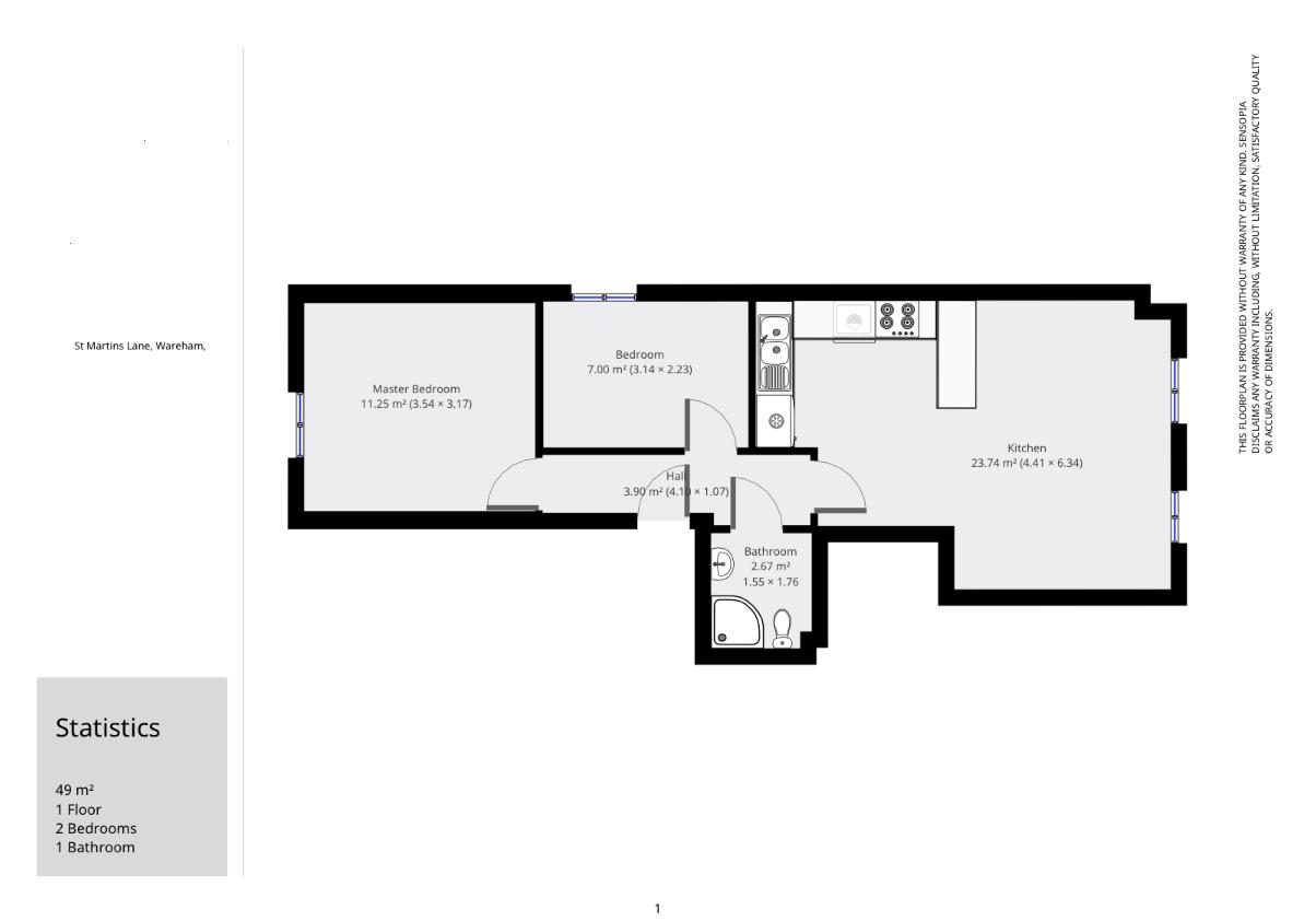 St Martins Lane Wareham BH20 2 Bedroom Flat For Sale