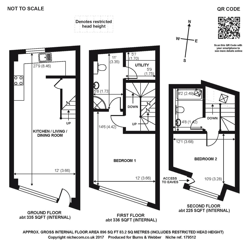 Haydon Place, Guildford, Surrey GU1, 2 Bedroom Terraced