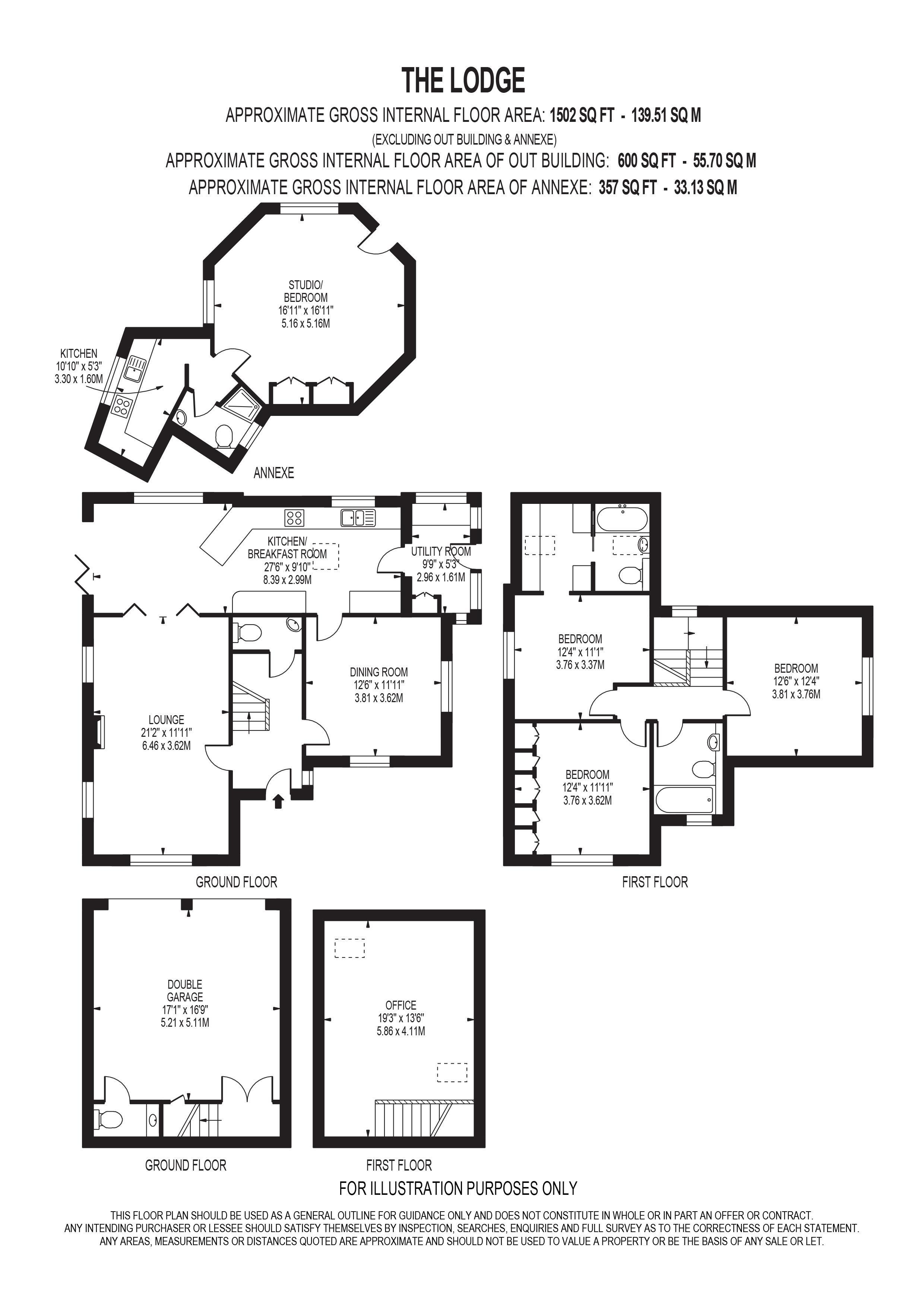 3 bed detached house for sale in grove close epsom kt19 for Ron lee homes floor plans