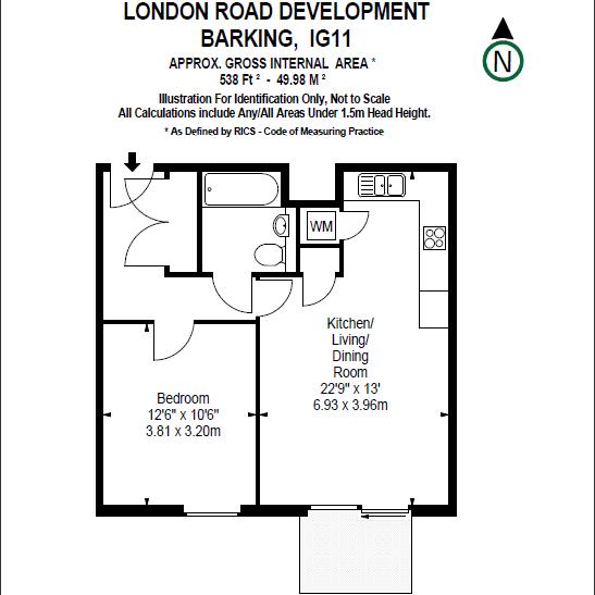 1 Bedrooms Flat to rent in 37 London Road, Barking IG11