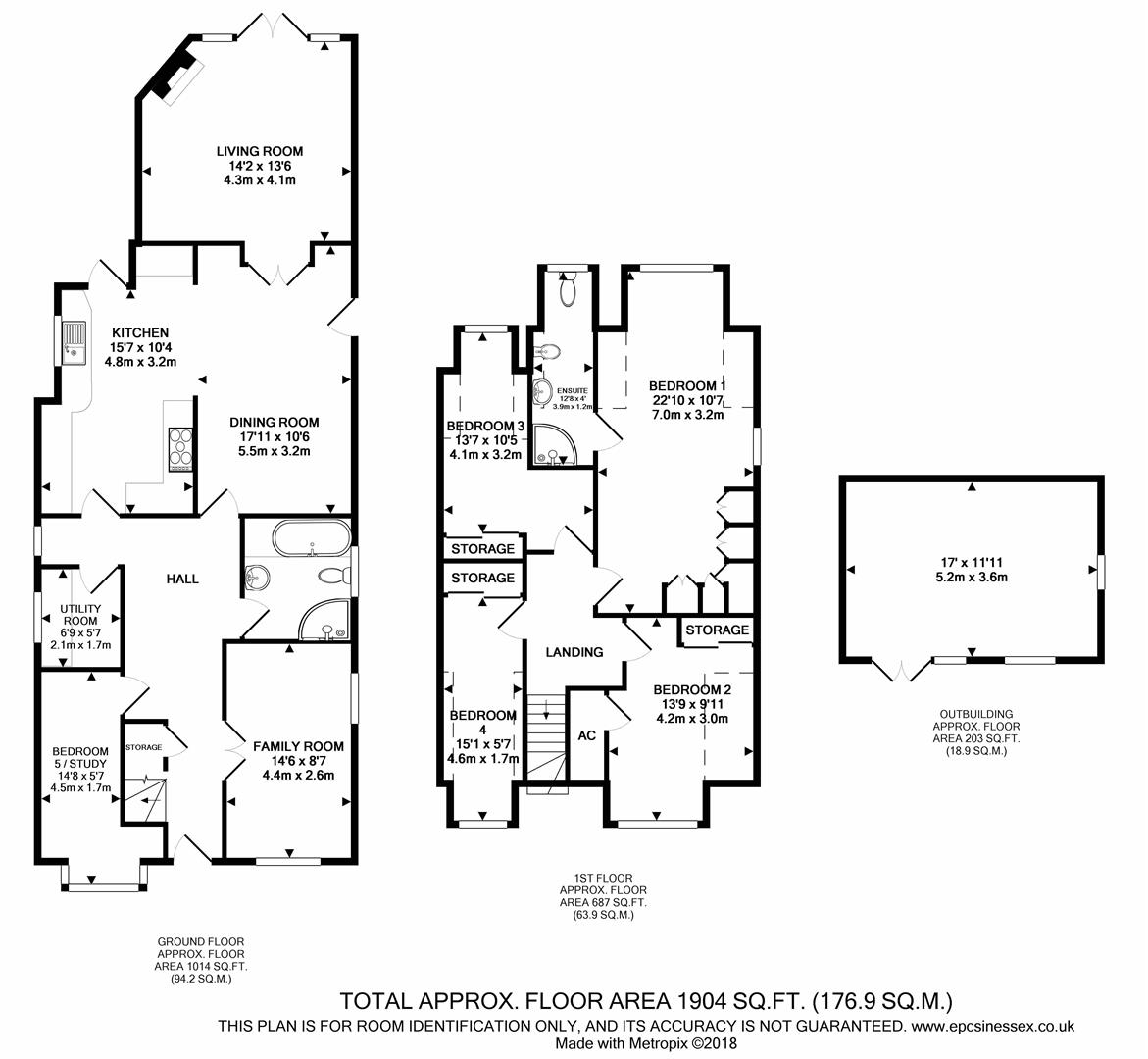 4 Bedrooms Detached house for sale in Nags Head Lane, Brentwood CM14