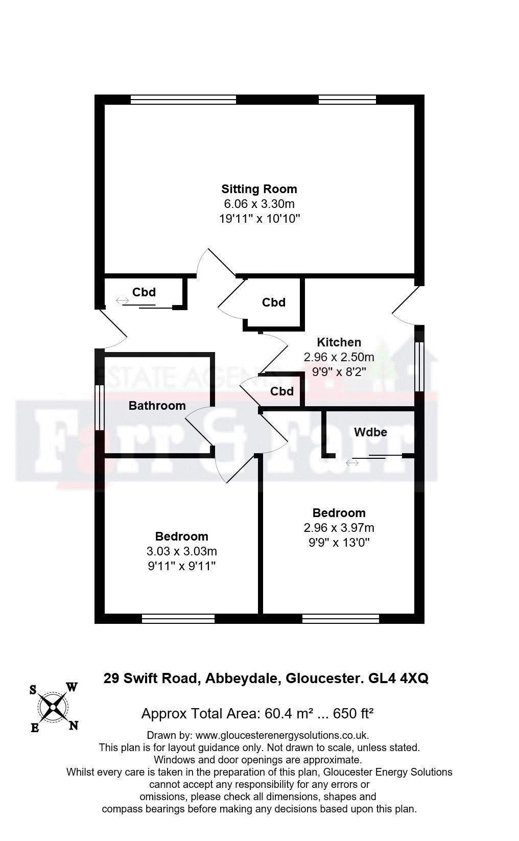 2 bed detached bungalow for sale in Swift Road, Abbeydale