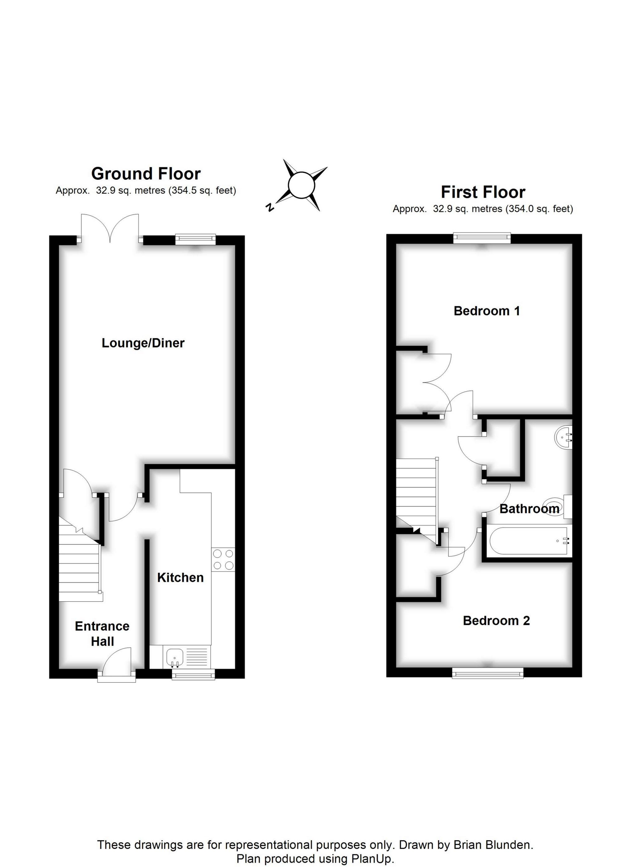 Holder road maidenbower crawley rh10 2 bedroom terraced for Floor plan holder