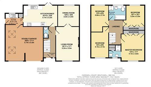 10 cardwell court braithwell s66 4 bedroom detached for Garden room braithwell